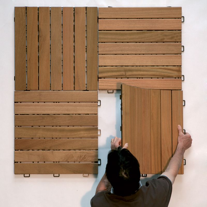 Pavimentazione in legno per esterni listoplate teak - Legno resistente per esterni ...