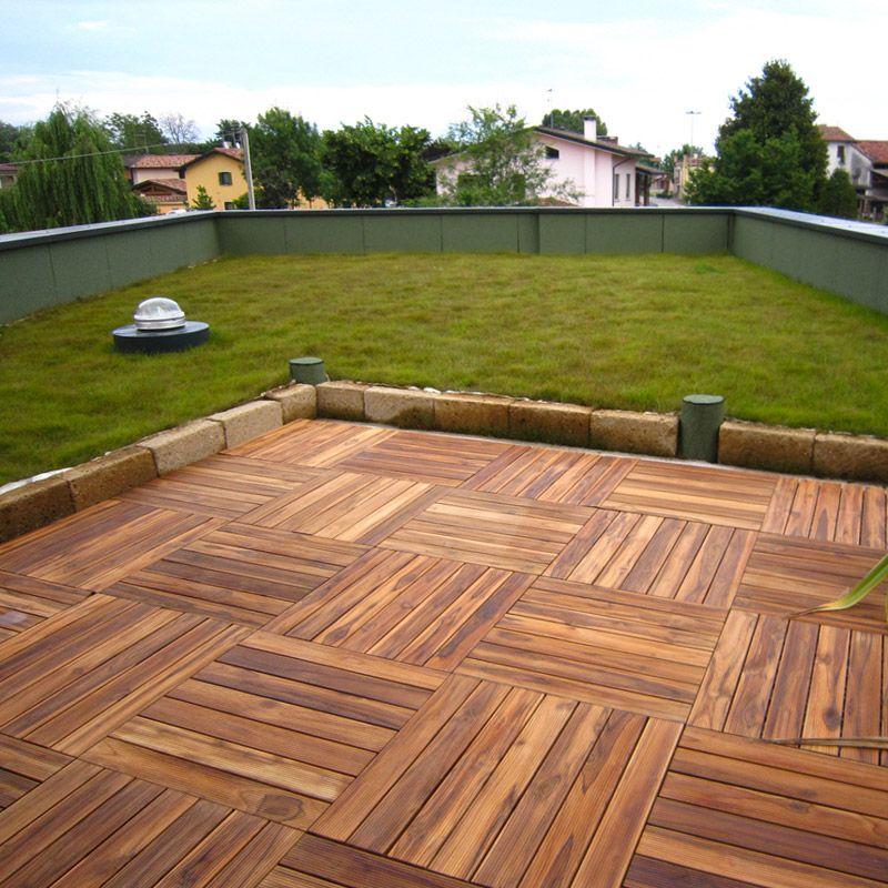 Stock pavimentazione in legno per esterni listoplate teak pontarolo engineering - Pavimentazione giardino in legno ...