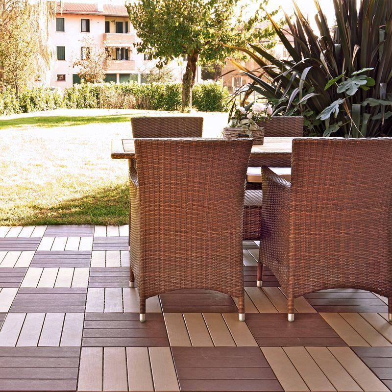 Pavimentazione in plastica per esterno finto legno easyplate pontarolo engineering - Pavimento esterno finto legno ...