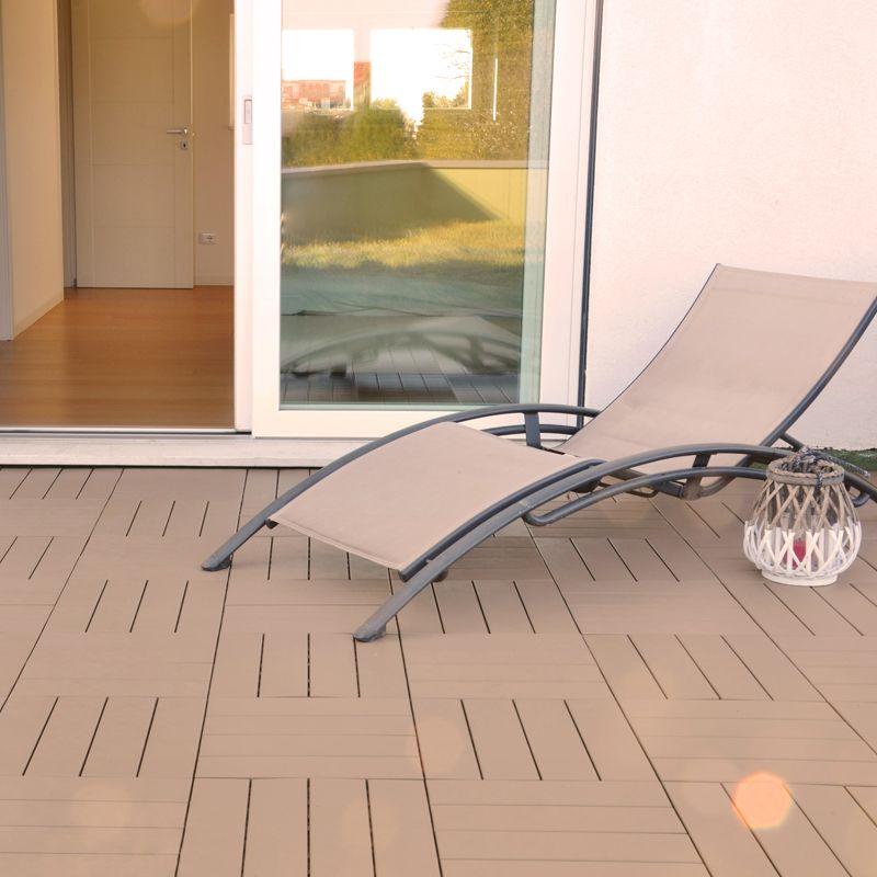 Pavimenti In Plastica Per Terrazzi.Pavimentazione In Plastica Per Esterno Finto Legno Easyplate