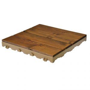 Woodstile, pavimentazione in legno di pino nordico effetto noce